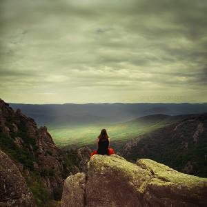 Solo Female Travel - Woman Sitting