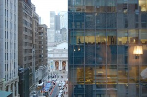 View of the New York Public Library from the Mystery Room