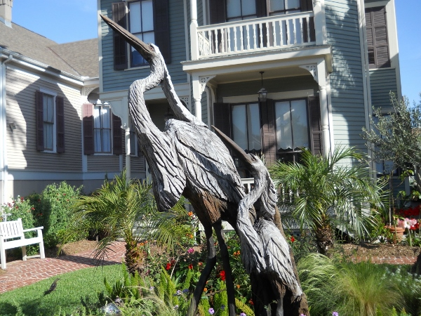 Galveston texas art chainsaw carving travel writing