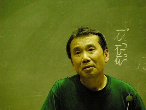 Murakami on stage