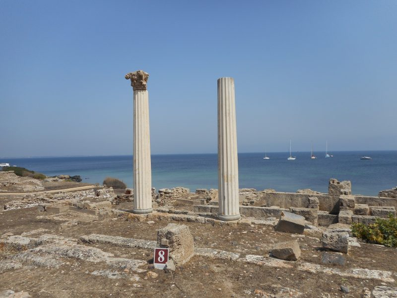 The Phoenician site of Tharros, near the town of Oristano
