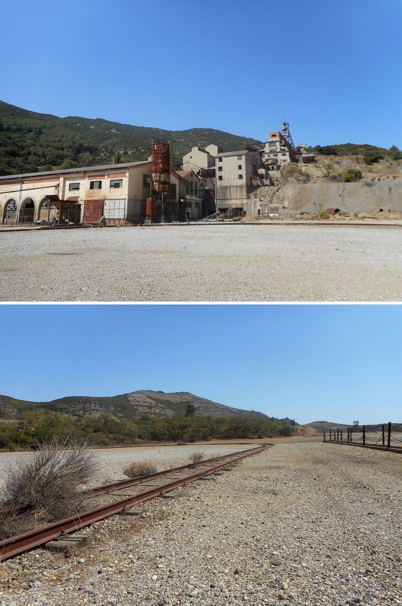Views of the abandoned mining site in Montevecchio