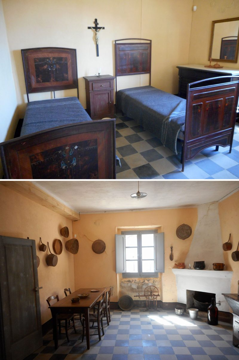 Restored miners' homes in Montevecchio