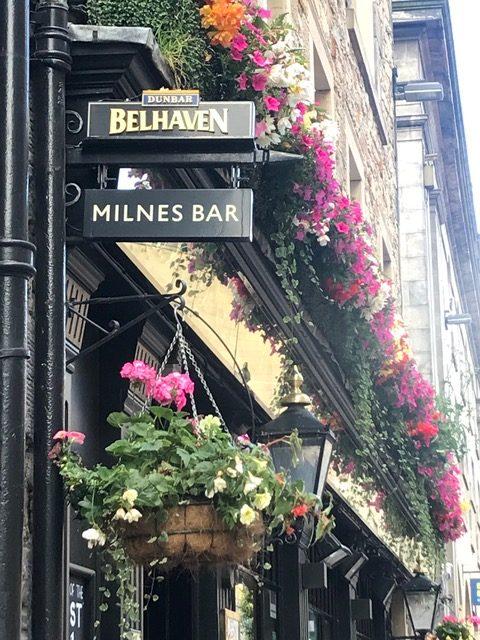The Milnes Bar--on the corner of Hanover and Rose Streets in Edinburgh